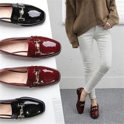 Reneve - Metal-Embellished Patent Loafers