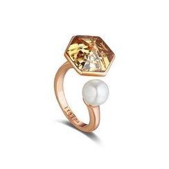 伊泰莲娜 - 施华洛世奇元素水晶开口戒指