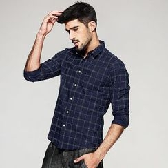 Quincy King - Check Long-Sleeve Shirt