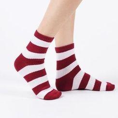 Aeoo - 條紋襪5雙
