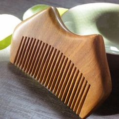 White Lotus - Wooden Hair Comb