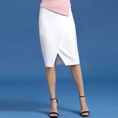Jusak - Slit Midi Skirt