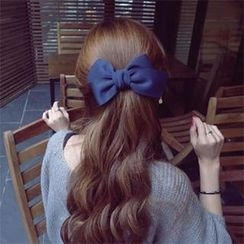 Gold Beam - Bow Hair Barrette