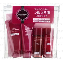 Shiseido 资生堂 - Aqualabel Moist Mini Set: Oil Cleansing 20g + Foam 20g + Lotion R 20ml + Emulsion R 20ml