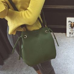 Clair Fashion - 韓版簡約荔枝皮子母包側背包