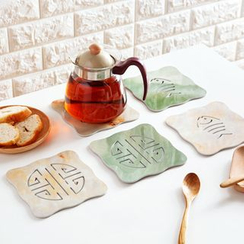 Home Simply - Marble-Imitation Cutout Coaster