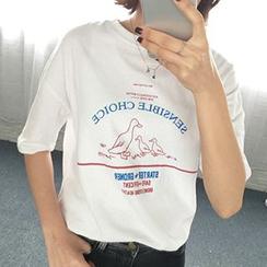 Dute - 鴨子印花短袖T恤