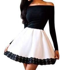 Everose - Mock Two-Piece Dress