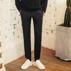 MEOSIDDA - Brushed-Fleece Lined Tapered Dress Pants