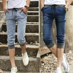 Recluso - Drawstring Capri Jeans