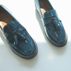 JUSTONE - Tasseled Patent Loafers