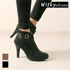 Wifky - Belted-Detail Booties