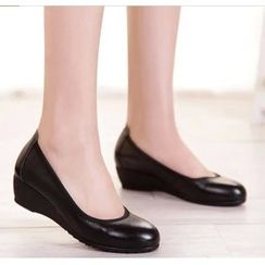 Hannah - 真皮船跟鞋