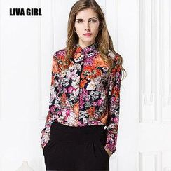 LIVA GIRL - Flower Print Shirt
