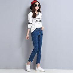 Sienne - Irregular Fray Jeans