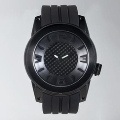 t. watch - Stainless Steel Water Resistant  Silicon Strap Watch