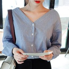 trendedge - Long-Sleeve V-Neck Blouse