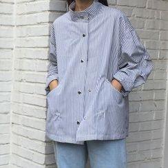 OCTALE - Striped Buttoned Lightweight Jacket