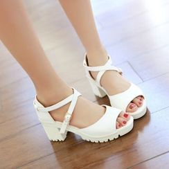 Shoes Galore - Block Heel Sandals