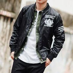 SeventyAge - 立體電繡圖騰風衣飛行外套