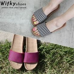 Wifky - Striped Slide Sandals
