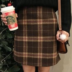 Dute - Plaid A-Line Skirt