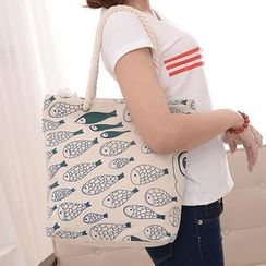 Filio - Fish Print Shopper Bag