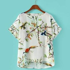JVL - Short-Sleeve Printed Top