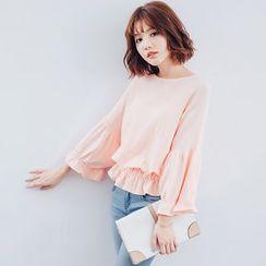 Tokyo Fashion - Ruffle Trim Long-Sleeve Top