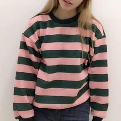Cerauno - Striped Couple Matching Sweatshirt