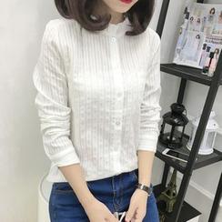 Oaksa - Pocketed Frill Collar Shirt