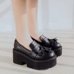 Anran - Platform Tassel Loafers
