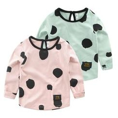 lalalove - Kids Dotted Long-Sleeve T-Shirt