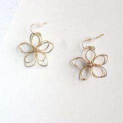 Ginga - Flower Wirework Earrings
