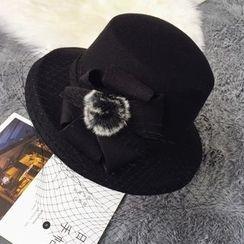 Pompabee - Bow Bobble Fedora Hat