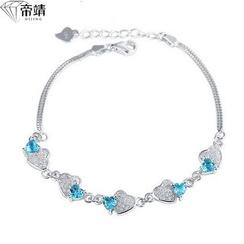 DIJING - Crystal Segment Sterling Silver Bracelet