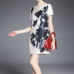Alaroo - Floral Print Short-Sleeve Dress
