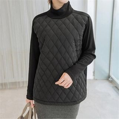 JOAMOM - Turtle-Neck Padded T-Shirt