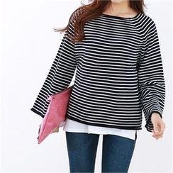 PEPER - Raglan-Sleeve Striped T-Shirt