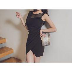 UUZONE - Sleeveless Yoke Dress