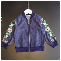 Rakkaus - Kids Embroidered Denim Jacket
