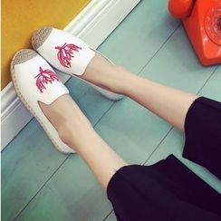 BAYO - Embroidered Espadrilles Slip-Ons