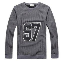Free Shop - Long-Sleeve Argyle Numbering T-Shirt