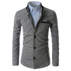 TheLees - Mandarin-Collar Single-Breasted Jacket