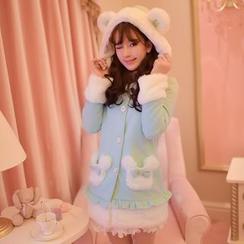 Candy Rain - Hooded Woolen Coat