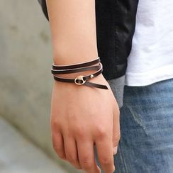 KINNO - Layered Genuine-Leather Bracelet