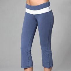 Almaz.C Active - Contrast-Trim Cropped Pants