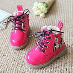 Luco - Kids Lace-Up Patent Ankle Snow Boots