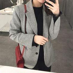 Seoul Fashion - Checked Wool Blend Blazer