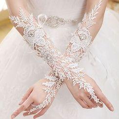 Sky n Sea - Lace Wedding Gloves